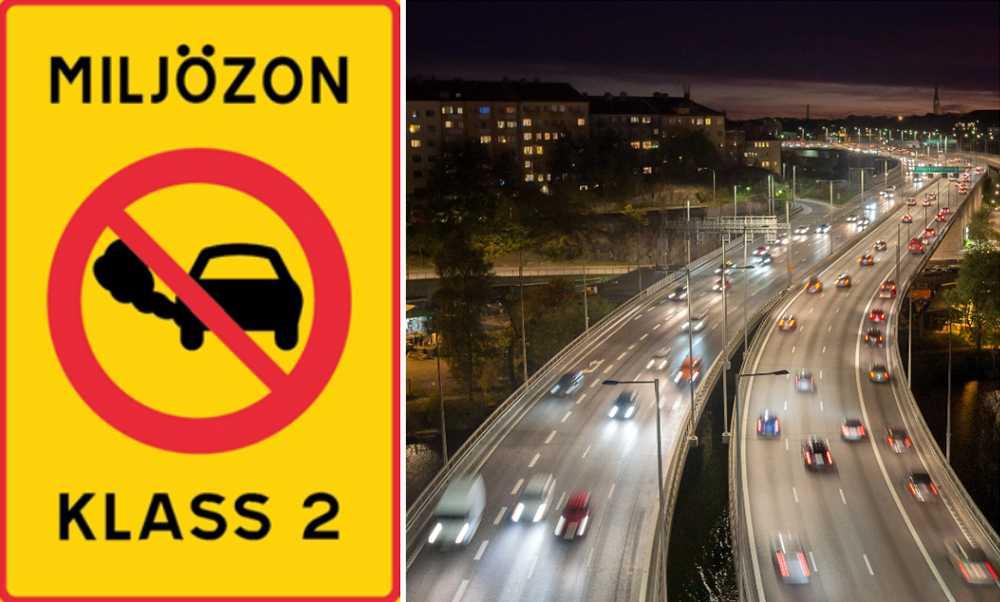 I framtiden kan miljözoner införas i svenska städer.