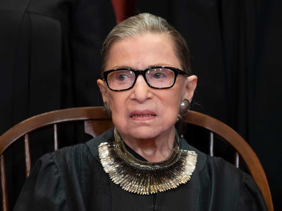 Domaren Ruth Bader Ginsburg är åter på plats i USA:s högsta domstol, efter en canceroperation. Arkivbild