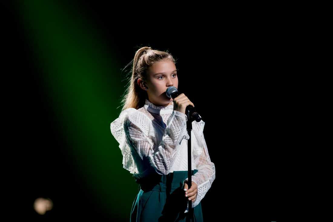"""Ida Lova Lind sjöng Kents """"Utan dina andetag"""" så att det gick rysningar genom publiken."""