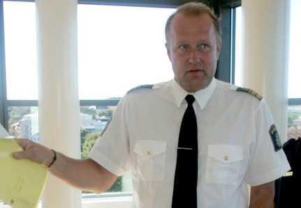 Tommy Bringholm, när han arbetade som polis i Uppsala.