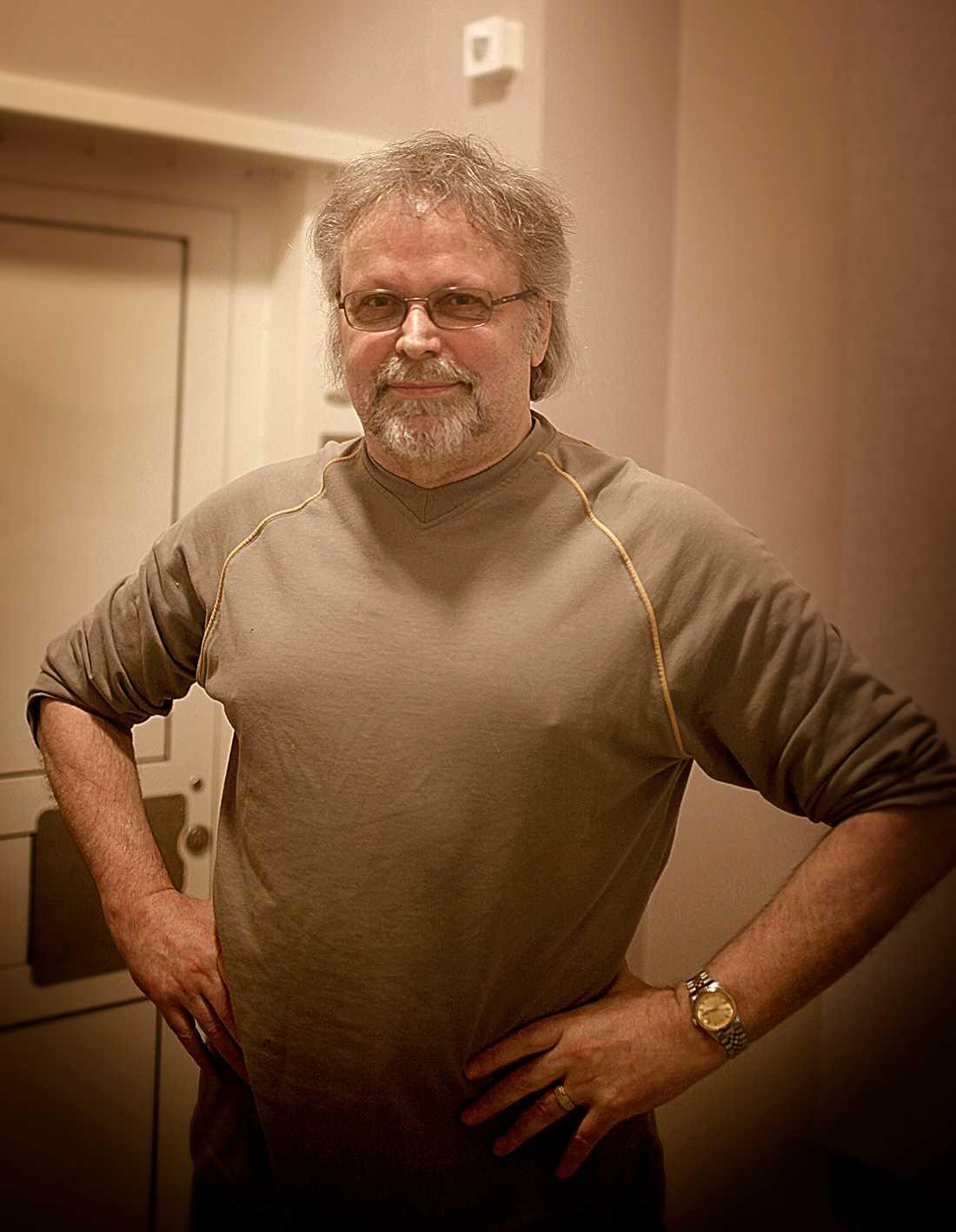 Clark Olofsson fotograferad när han satt på Kumla.