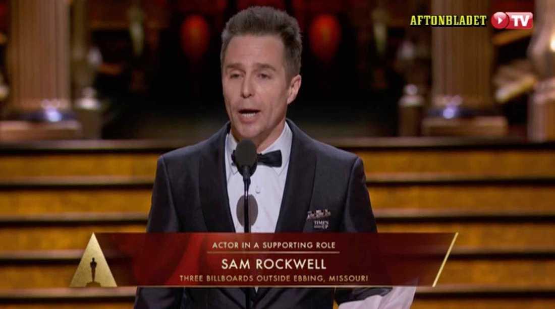 Sam Rockwell fick en Oscar för bästa manliga biroll.