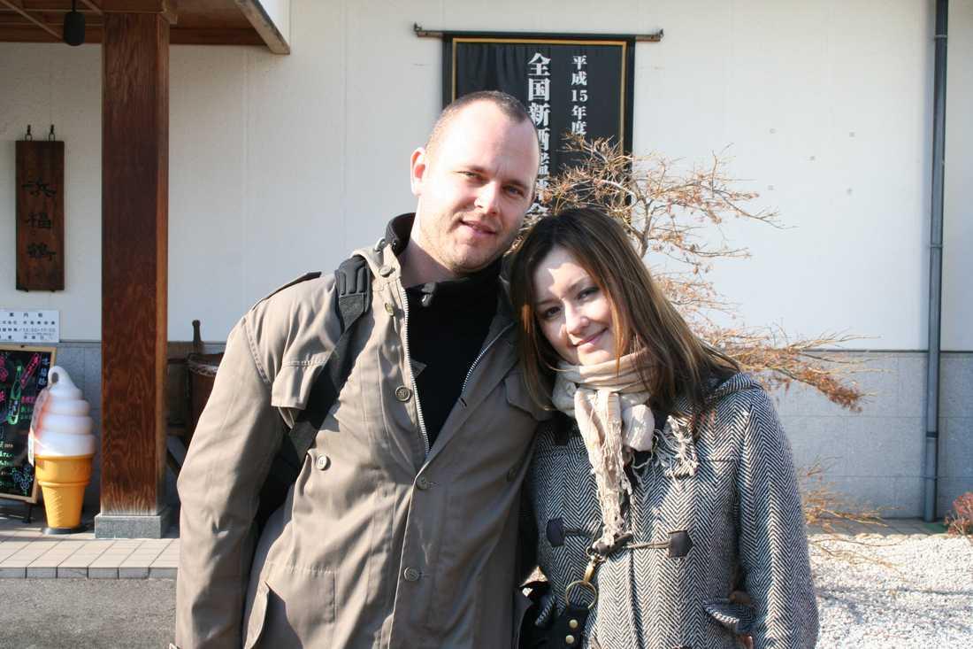 Mikael Funa, 36, och frun Nina, 33, från Uppsala.