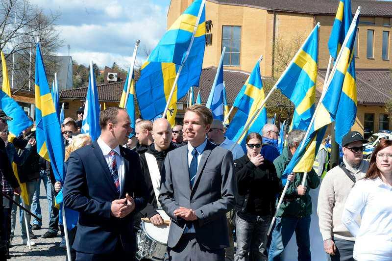 Belägrad stad. I Jönköping ringde kyrkklockorna för fara för första gången sedan första världskriget och 450 poliser fick rycka ut för att bevaka de nazistiska demonstrationerna.