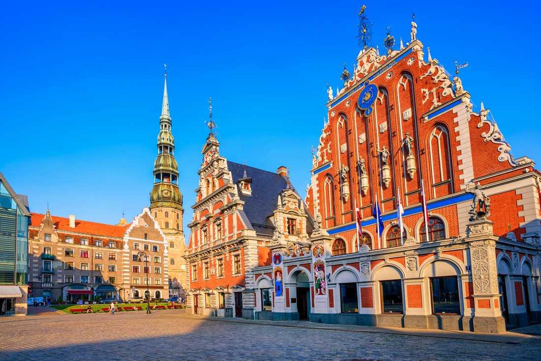 Svarthuvudbrödernas hus är ett populärt besöksmål i Riga.