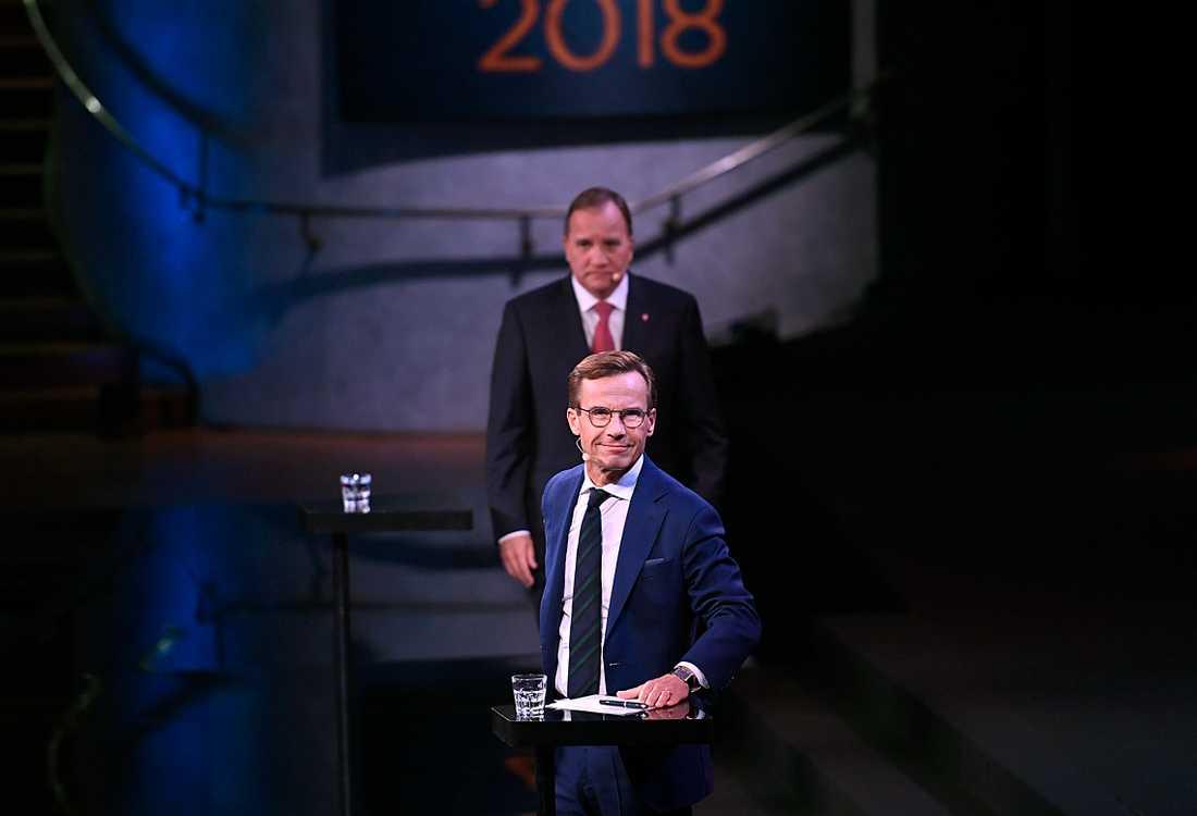 Löfven och Kristersson i en debatt före valet.
