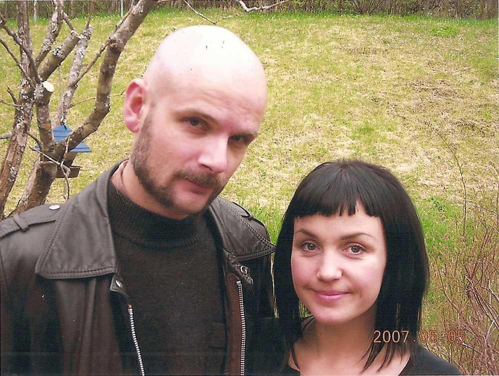 Lars Bygdén med hustrun Ulrika 2007.