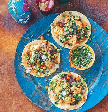 Vegetarisk tacos.