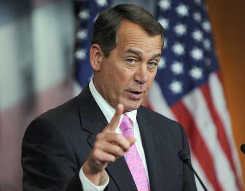 """""""Det här innebär harmagedon för USA"""", rasade minoritetsledaren John Boehner."""