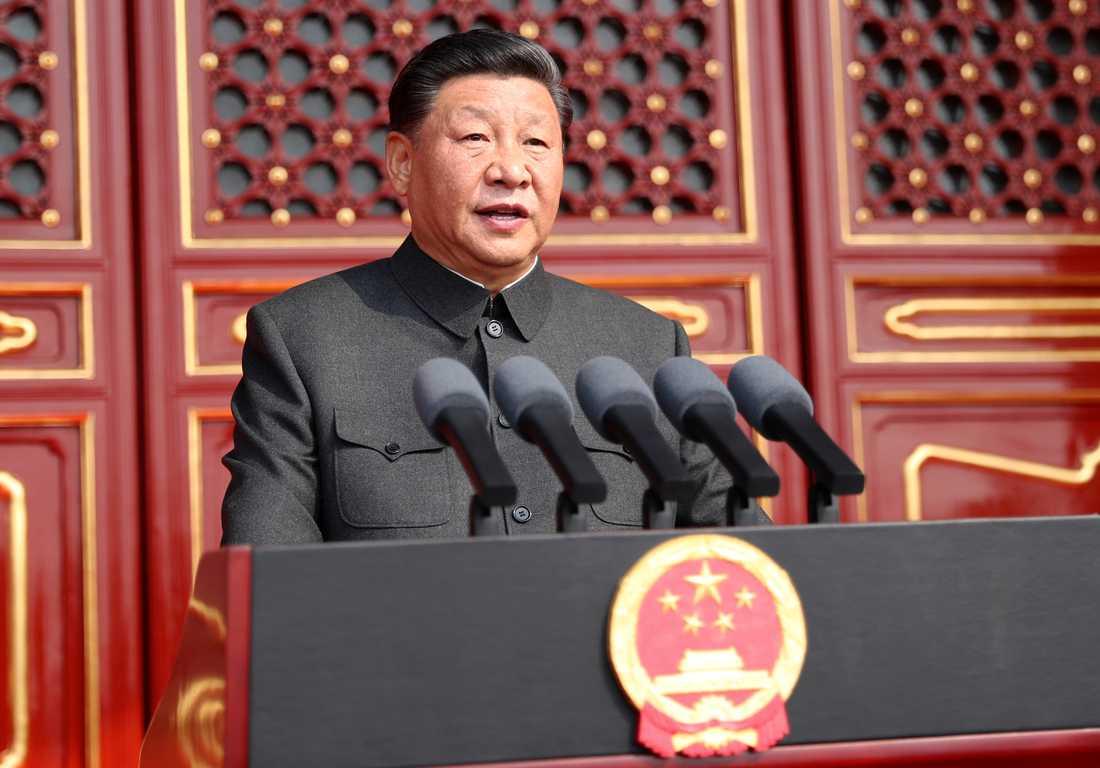 Xi Jinping talar på samma plats som Mao höll sitt tal för 70 år sedan.