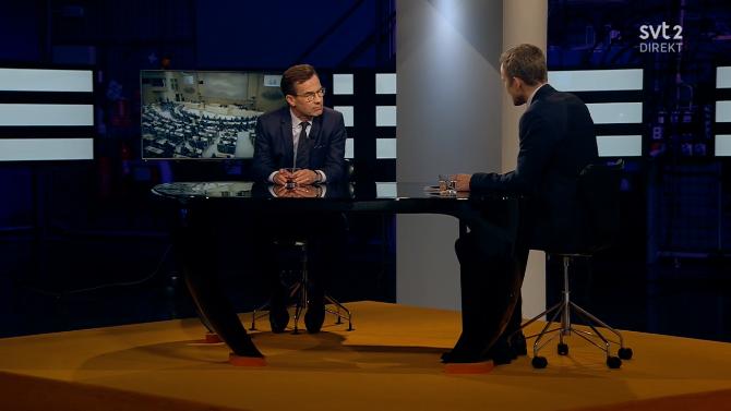 """Moderatledaren kommenterade försöken att bilda regering i SVT:s """"Agenda""""."""