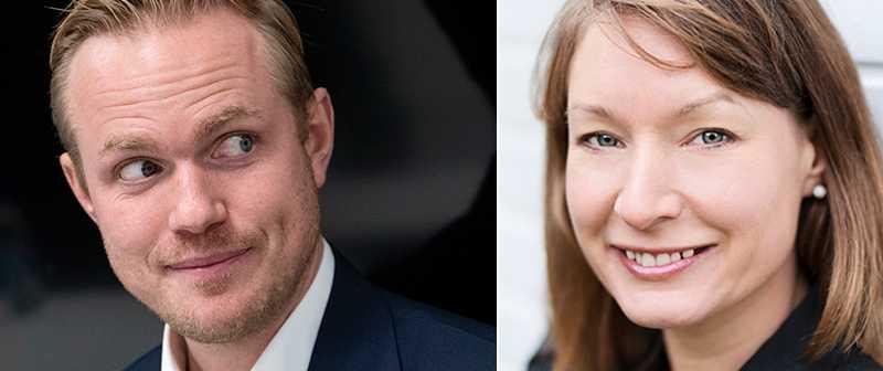 Jonas Eidevall och Jenny Ahlqvist de Souza.