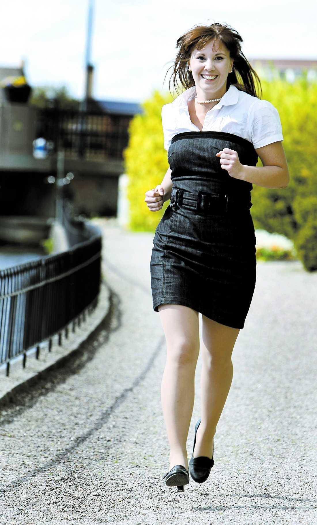Jenny-Mariah Fagerlind vill ha jobb i kommunikationsbranschen.