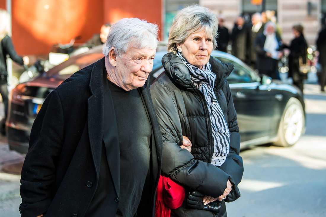 Börje Ahlstedt och hustrun Birgitta Hermann.