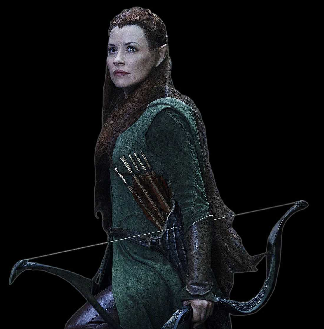 "Evangeline Lilly som Tauriel i ""The Hobbit""."