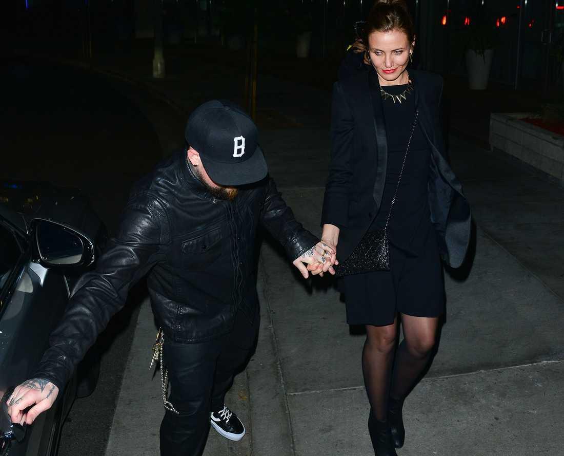 Cameron Diaz och Benji Madden efter en fest i Los Angeles.