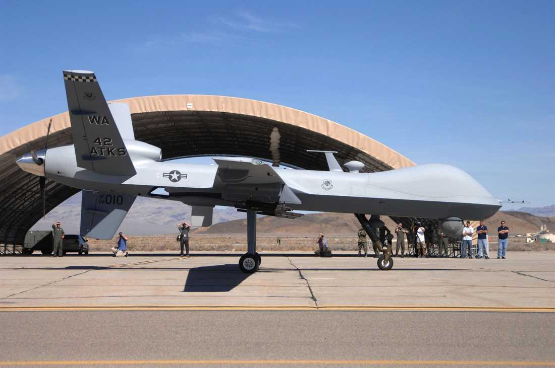 En amerikansk drönare av typen MQ-9 Reaper. Arkivbild.