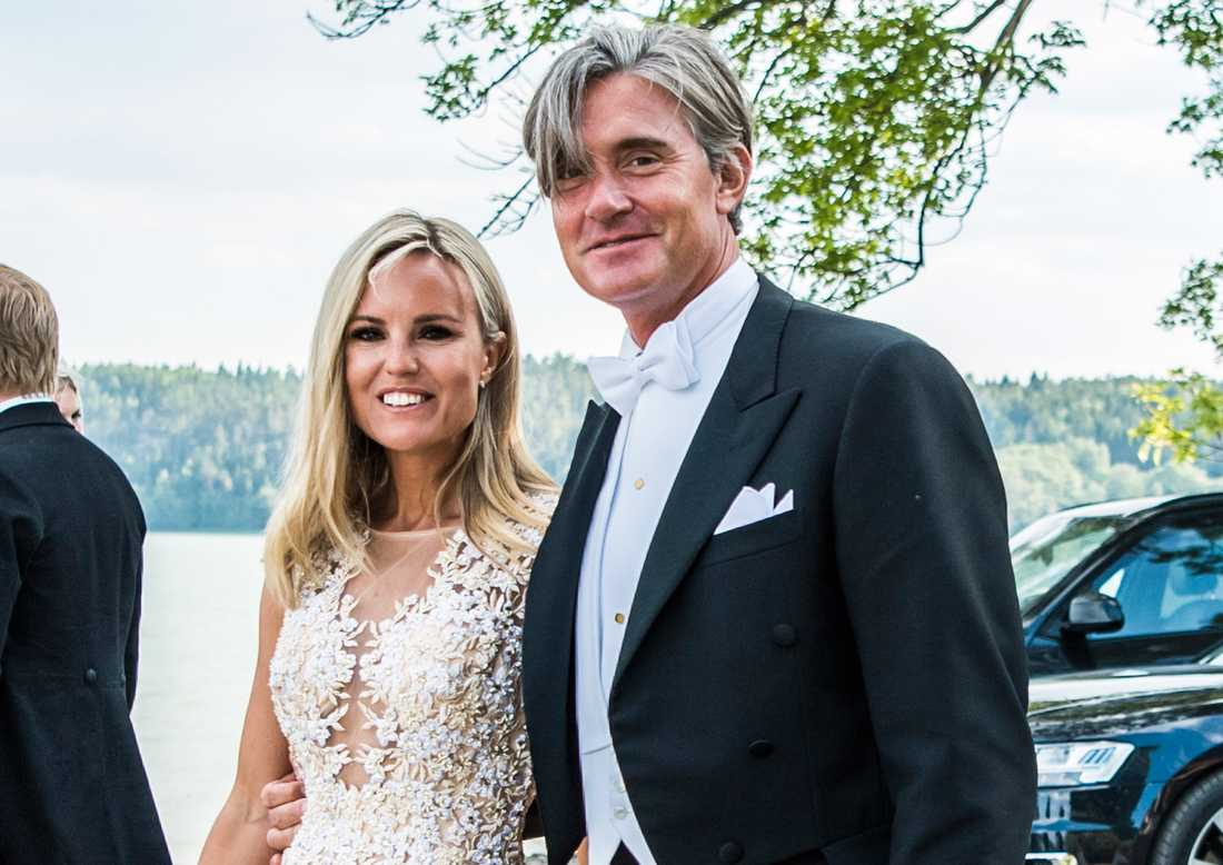 Sofi Fahrman och Filip Engelbert på Louise Gottliebs och Gustav Thotts bröllop 2018.