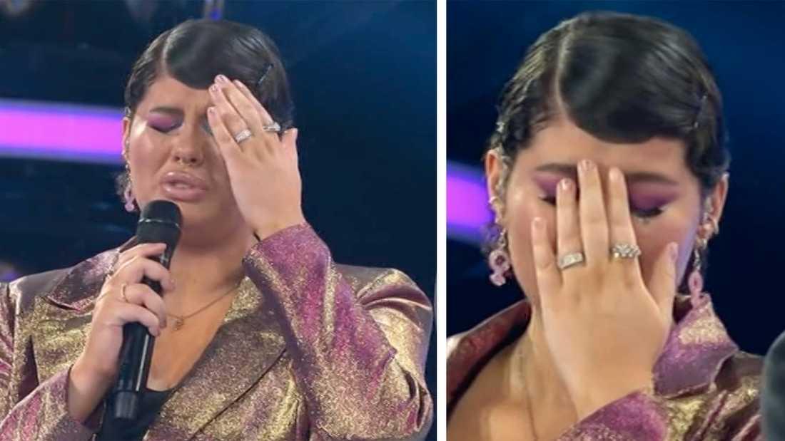 Maya Arctaedius kunde inte hålla tårarna borta efter resultatet.