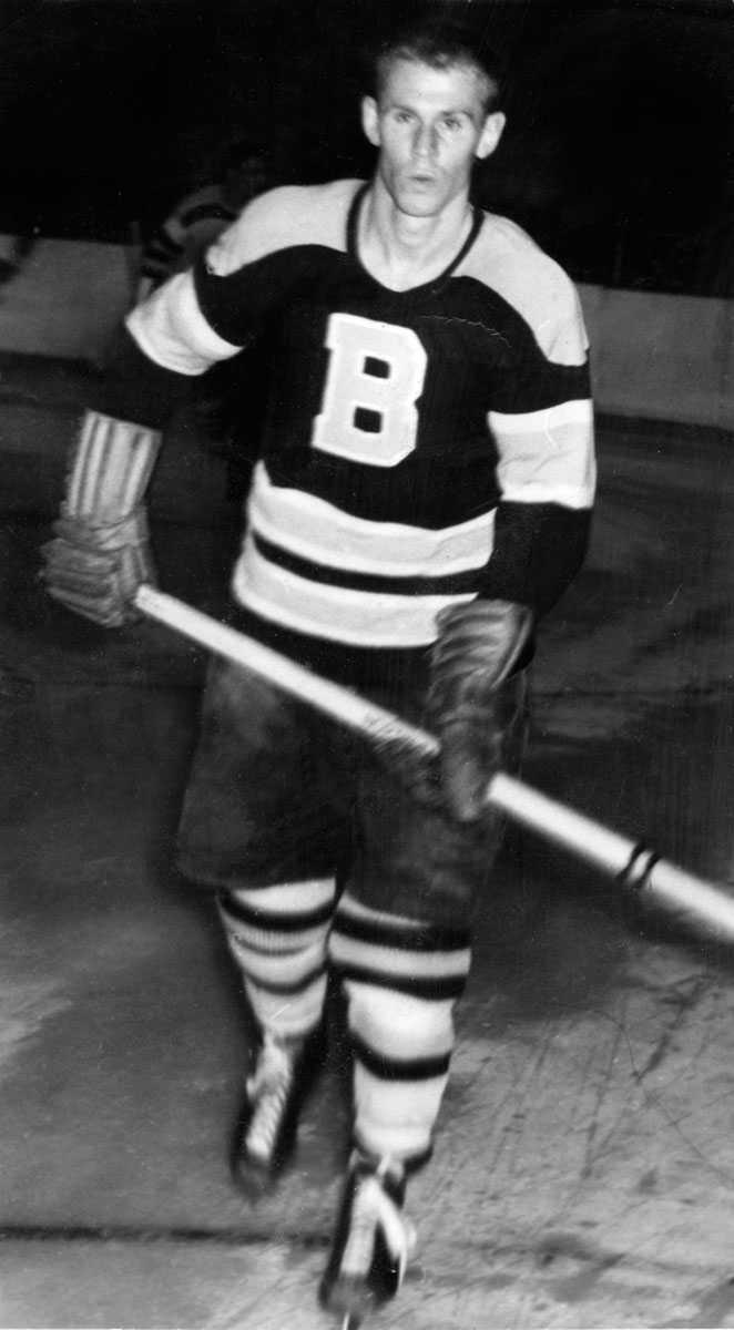I provspel för Boston Bruins 1957.