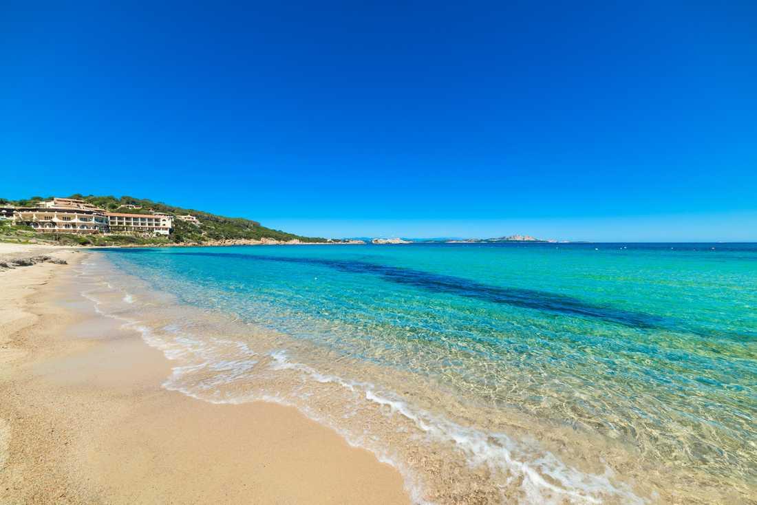 Strand på Sardinien.