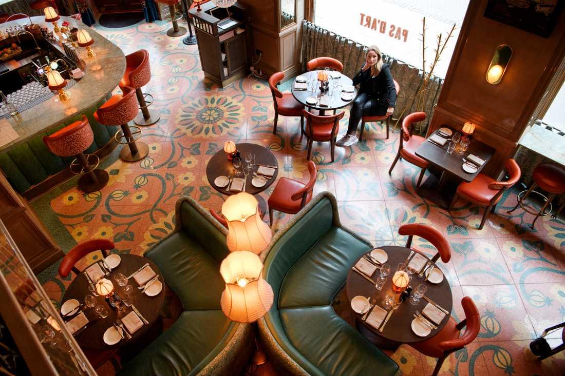 På Brasseriegruppens restaurang Pas d'Art i Stockholm är det nästan tomt på tisdagen.
