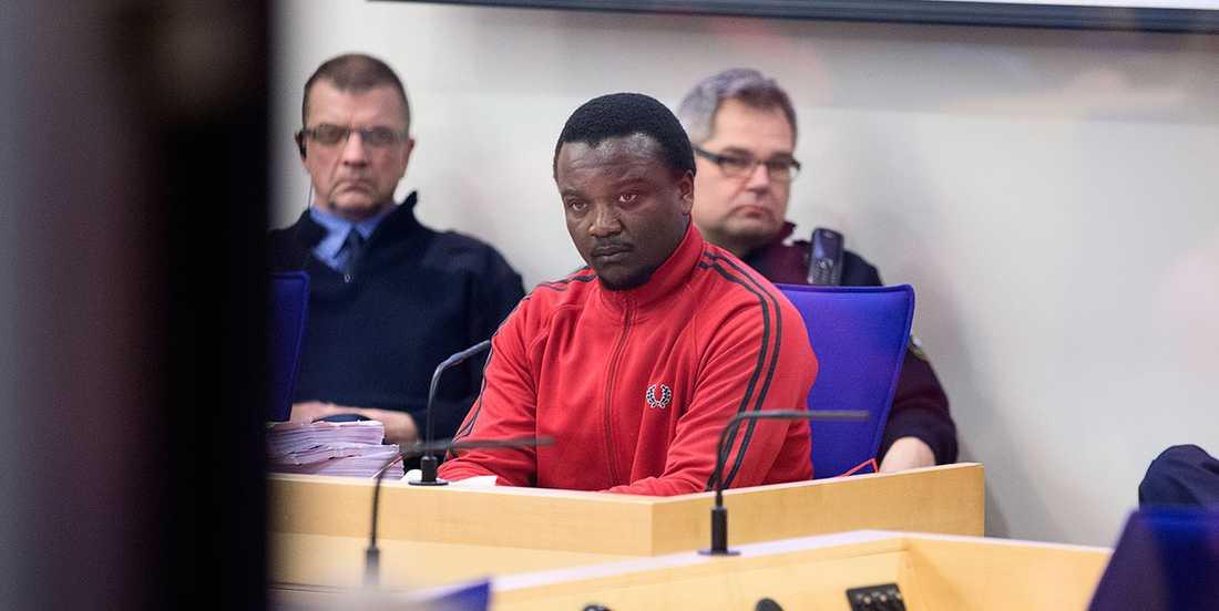 34-åringen i rättssalen under rättegången.