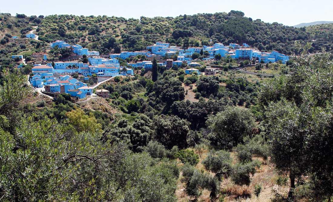 Över 4000 liter färg gick det åt till att måla alla hus blå i Juzcar.