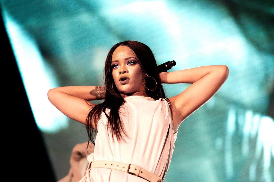 Rihanna på Tele 2 Arena i Stockholm den 4 juli 2016.