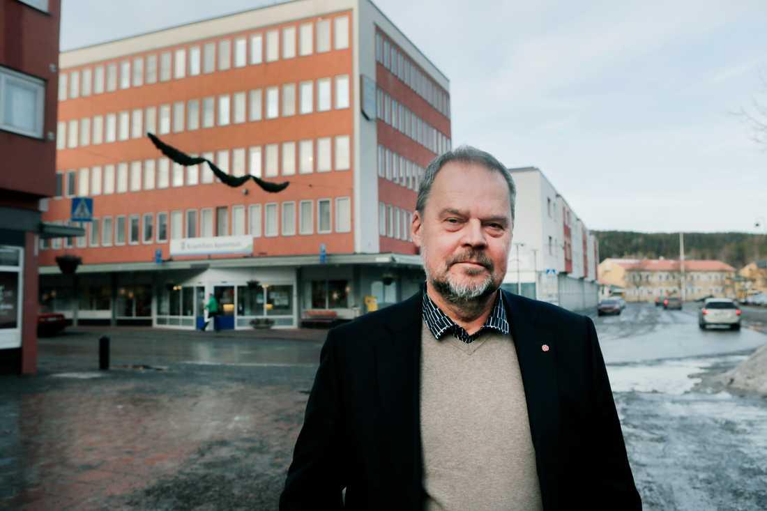 """Kramfors kommunalråd Jan Sahlén (S) tror att trenden med en krympande befolkning går att vända: """"Som politiker måste man hela tiden se att man kan utveckla ett positivt samhällsbygge""""."""