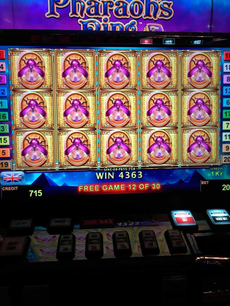 """Ett tekniskt fel på spelet """"Pharaoh's Ring"""" gjorde att maskinerna betalade ut alldeles för stora vinster."""