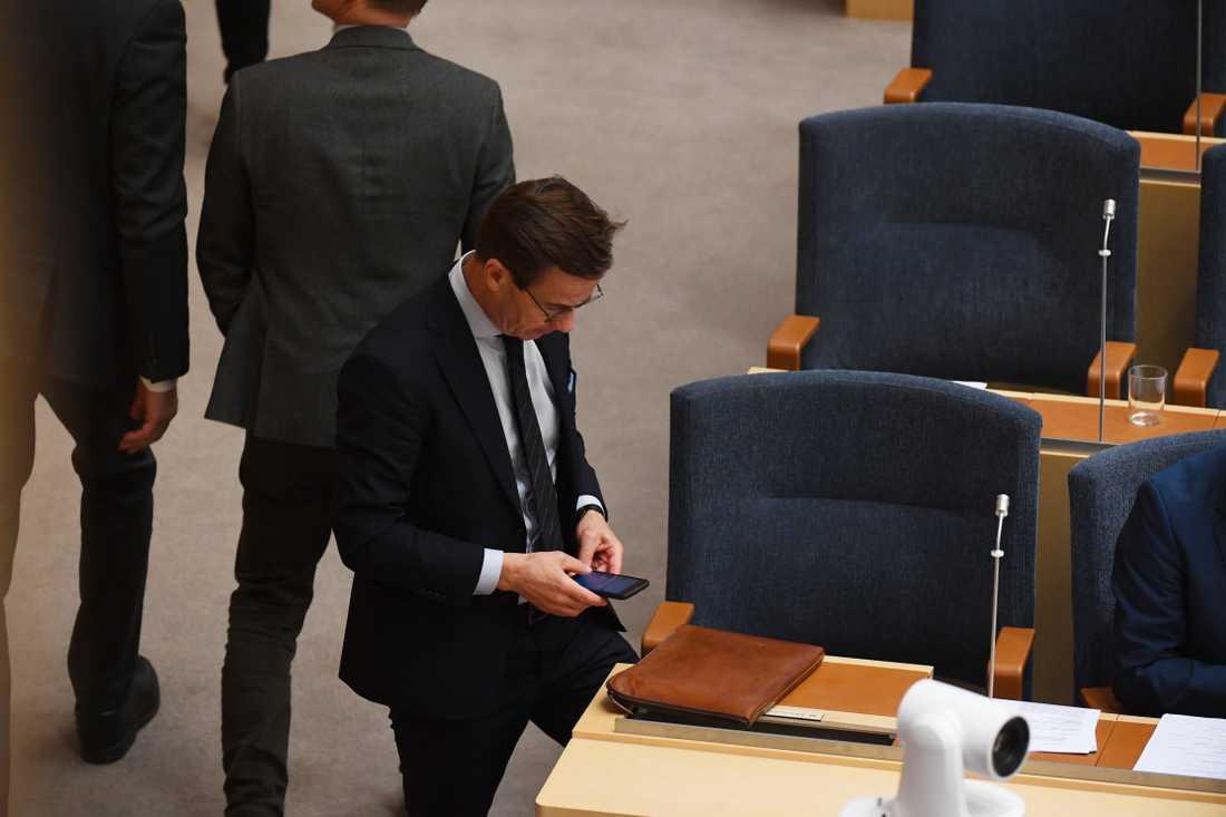 Riksdagen röstar nej till Ulf Kristersson som statsminister.