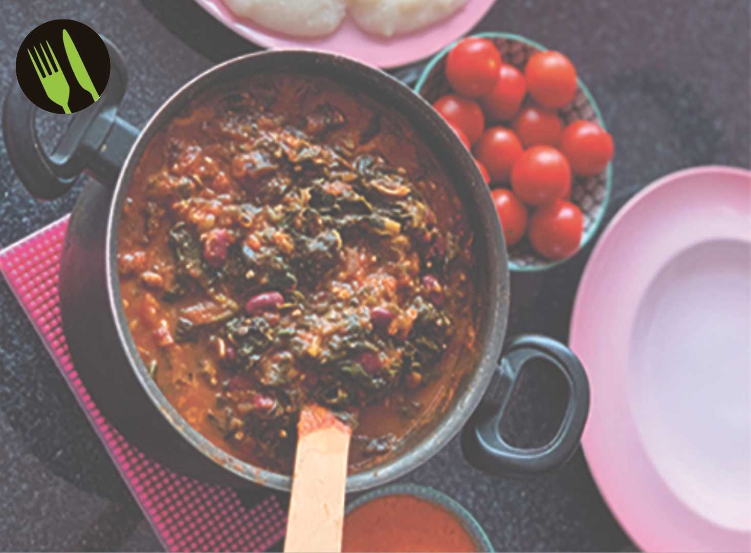 Okragryta med fufu och habanerosås.