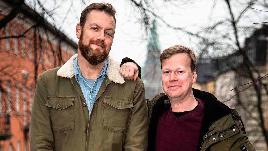 Johan Glans och Kristoffer Appelquist.