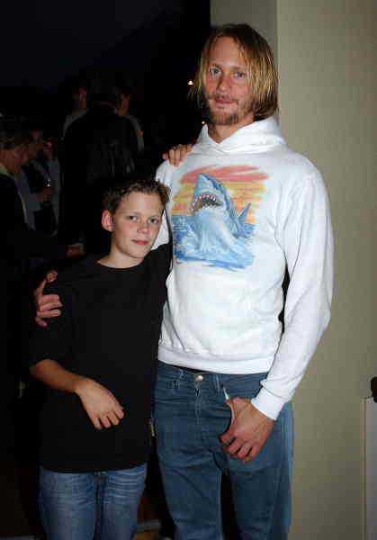 Med bror Alexander 2003.