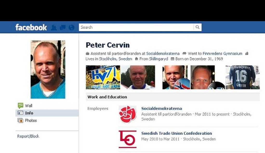 Från Peter Cervins Facebooksida.