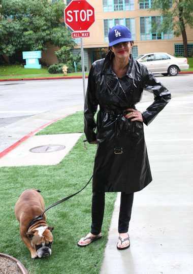 Posörer? janice Dickinson med sin bulldogg Llloyd.