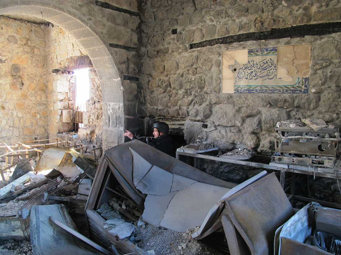 Niclas Hammarström i Mar Sarkis kloster i Maaloula, Syrien.