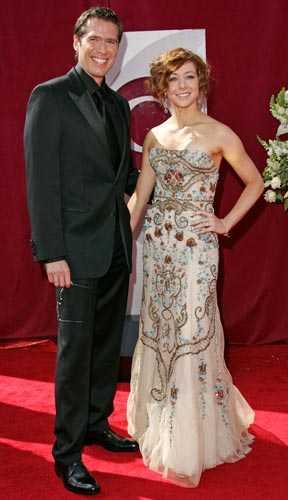 """""""Buffy""""-stjärnorna och äkta makarna Alexis Denisof och Alyson Hannigan kom till galan tillsammans."""