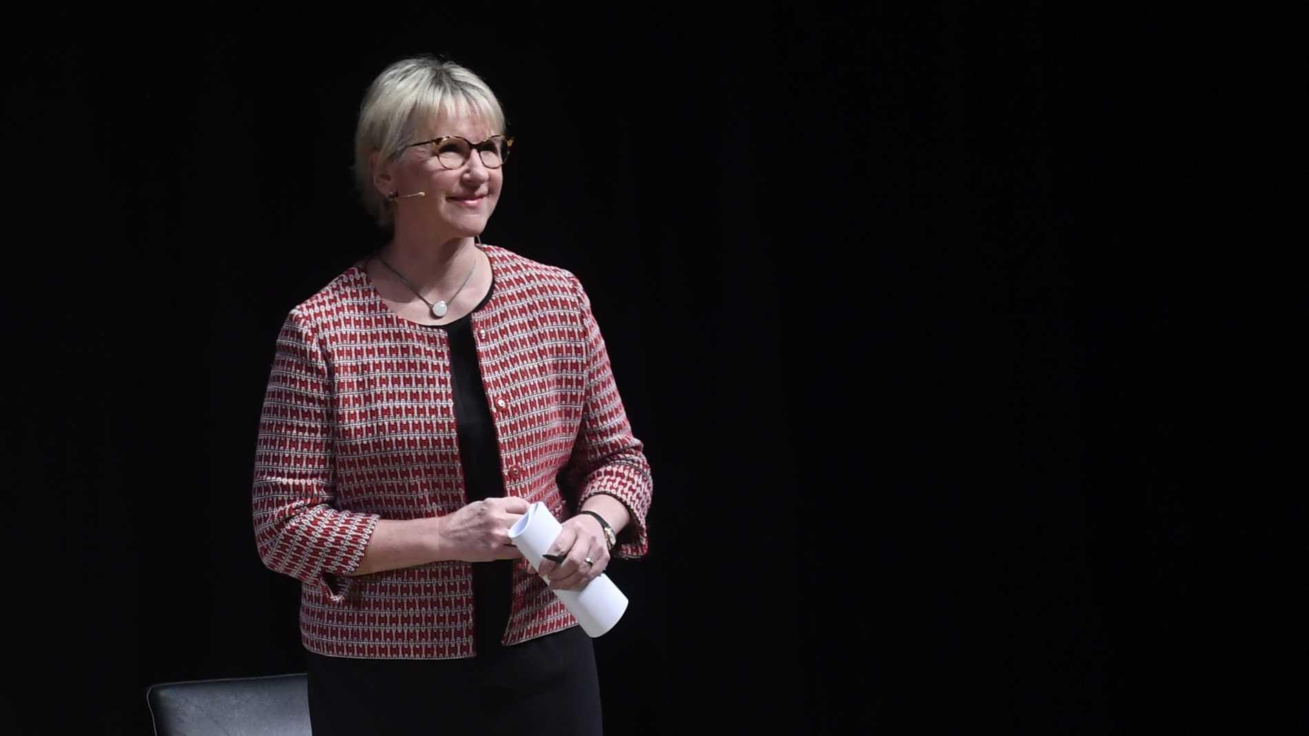 Margot Wallström vid panelsamtalet med artisten Robyn och filantropen Melinda Gates i Kulturhuset i Stockholm. Arkivbild.
