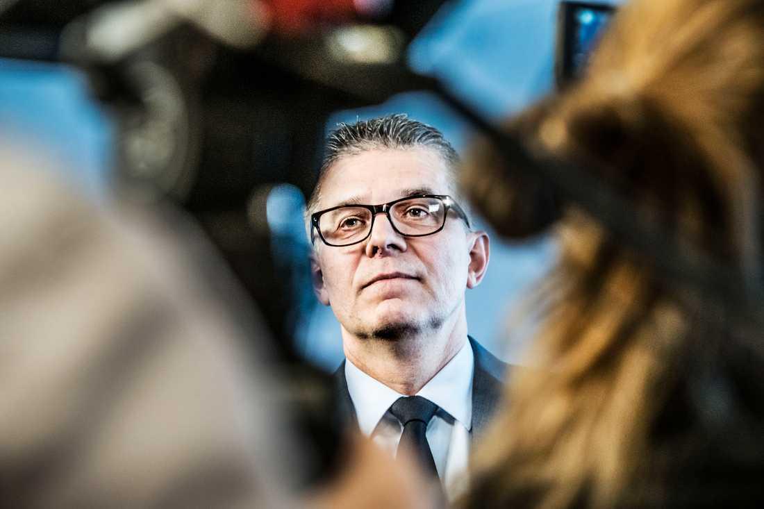 Rikspolischef Anders Thornberg anmälde lägenhetsaffären till polisens särskilda utredningar. Arkivbild.