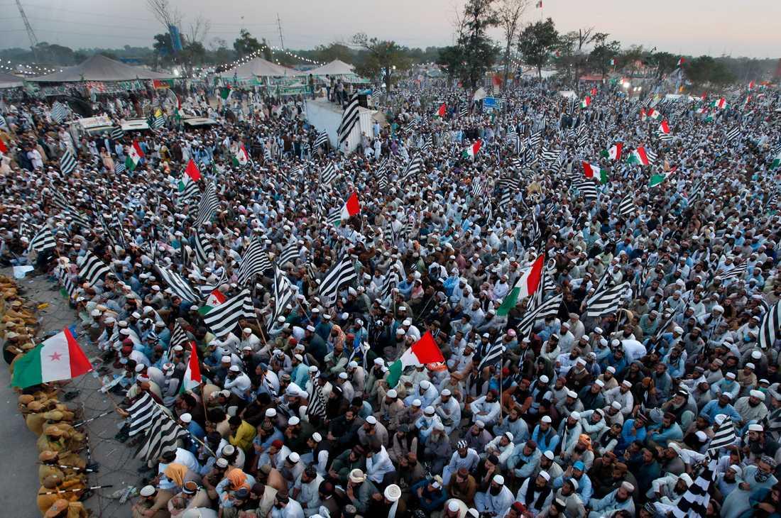 Sittstrejken i Pakistans huvudstad Islamabad pågick de första två veckorna i november. Arkivbild.