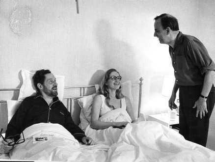 scener ur ett äktenskap Bergman regisserar Erland Josephson och Liv Ullmann i tv-serien (1972).