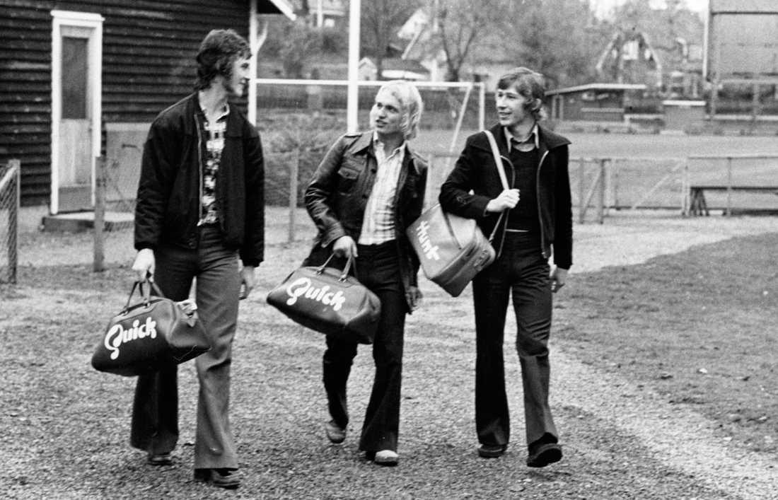 Ralf Edström och Benno Magnusson efter träning i Åtvidaberg i början av 1970-talet.