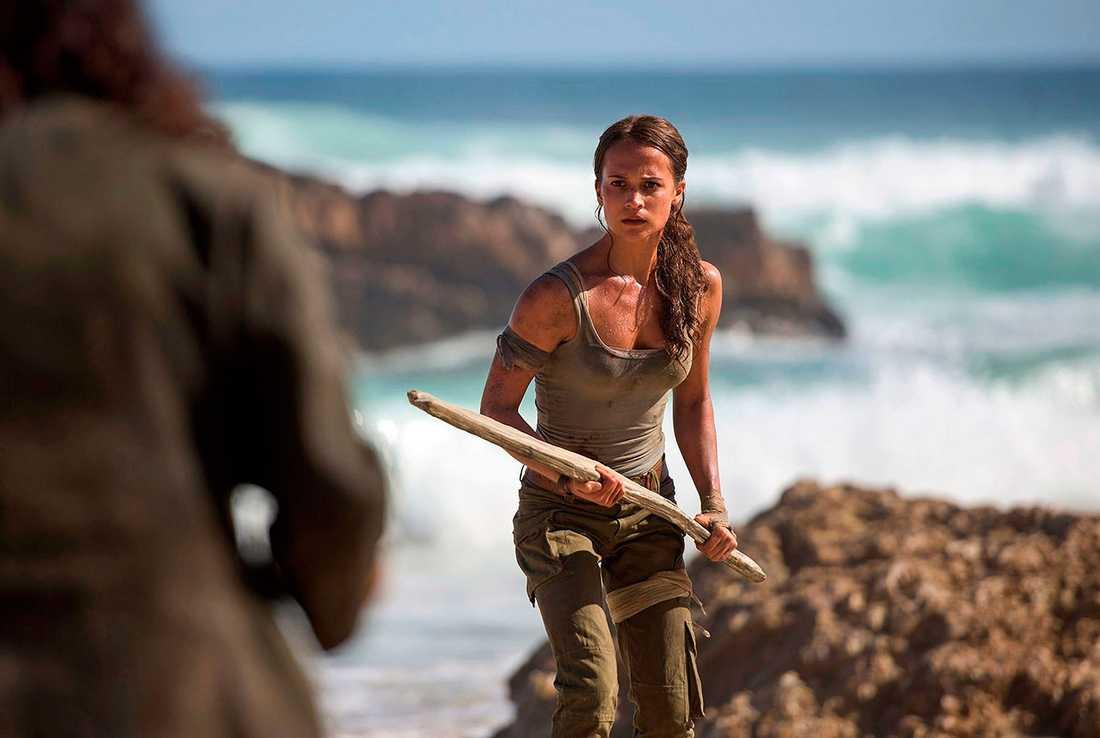 "Alicia Vikander som Lara Croft i ""Tomb raider""."