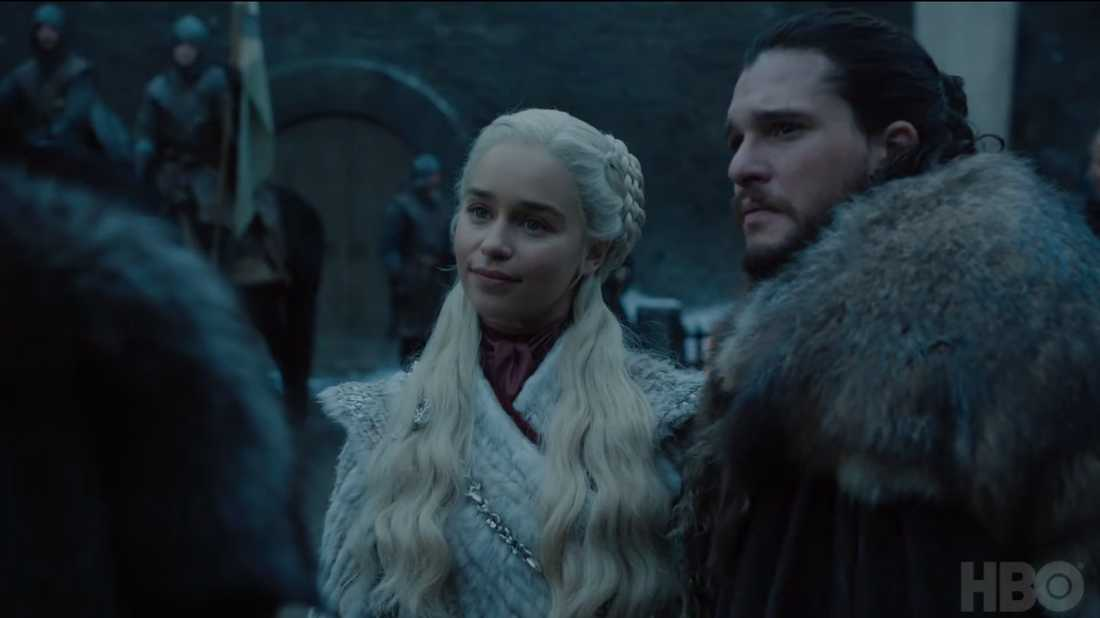 "Emilia Clarke och Kit Harington i ""Game of thrones""."