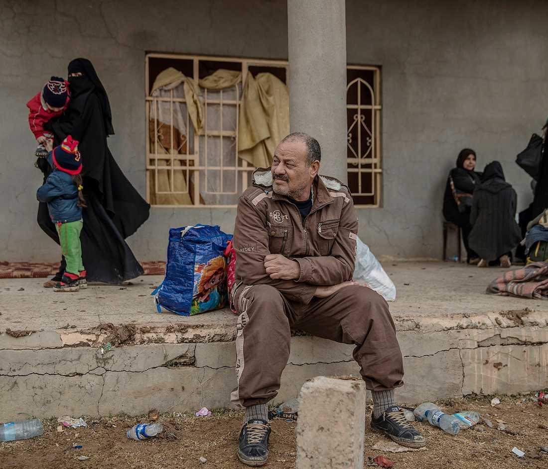 En irakisk man som tvingats strida för IS i Mosul
