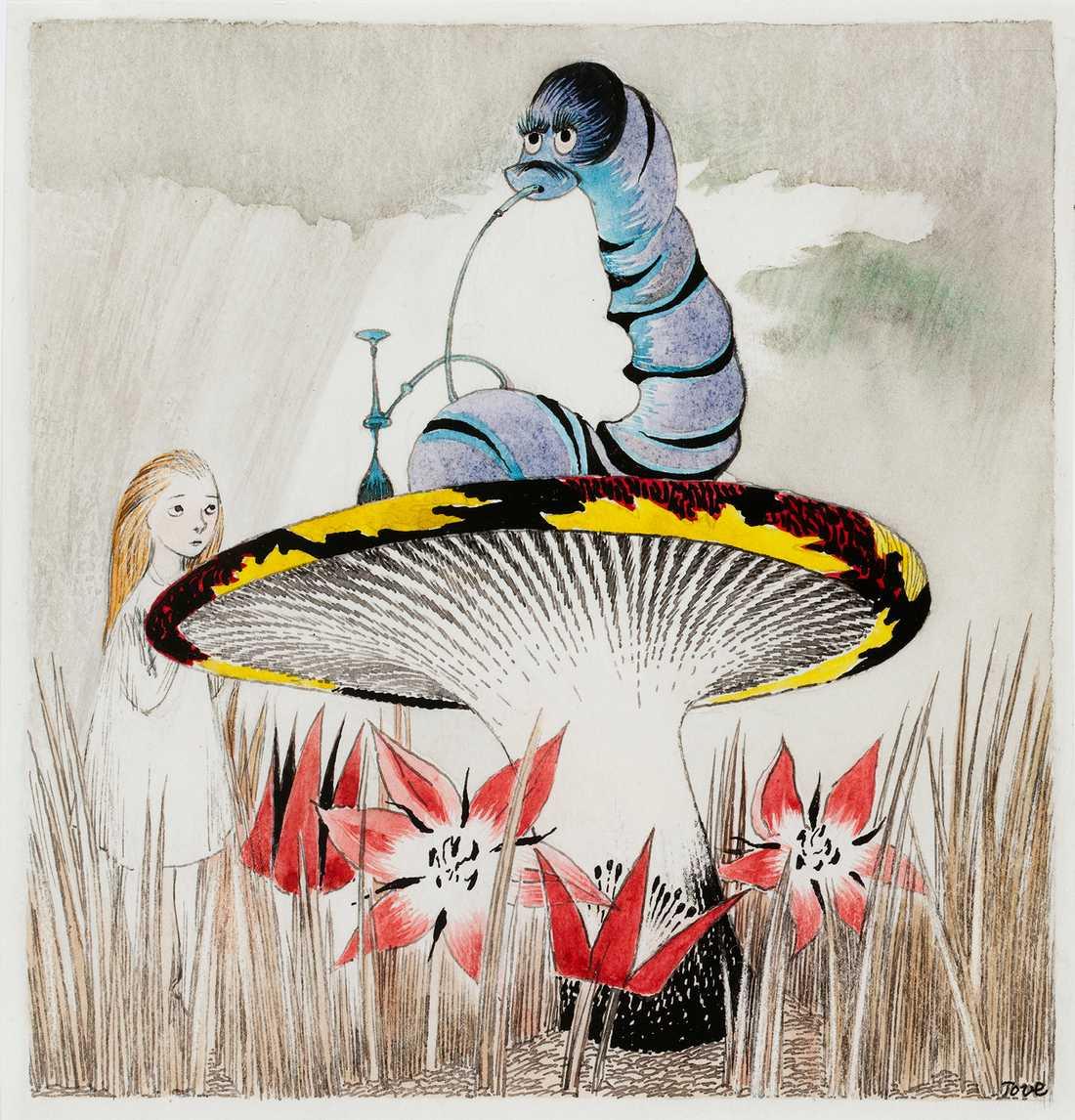 """Illustrationen """"Liisa Ihmemassa-kuvitus"""". Bild: Sumonen Kansallisgalleria / Jenni Nurminen"""