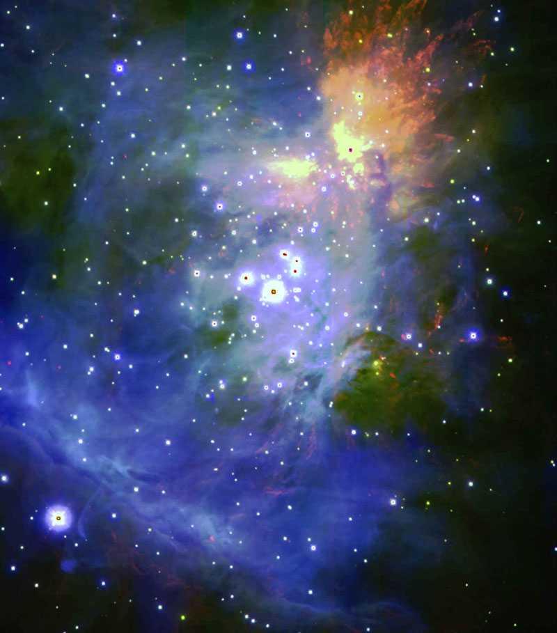 Orionnebulosan, vars ljus tog 1 500 år att nå jorden. Foto: AP