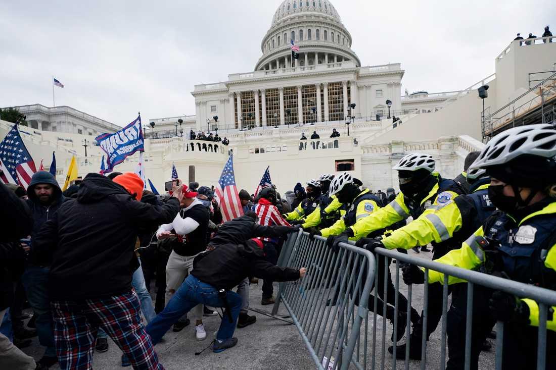 Utanför Kapitolium i Washington DC